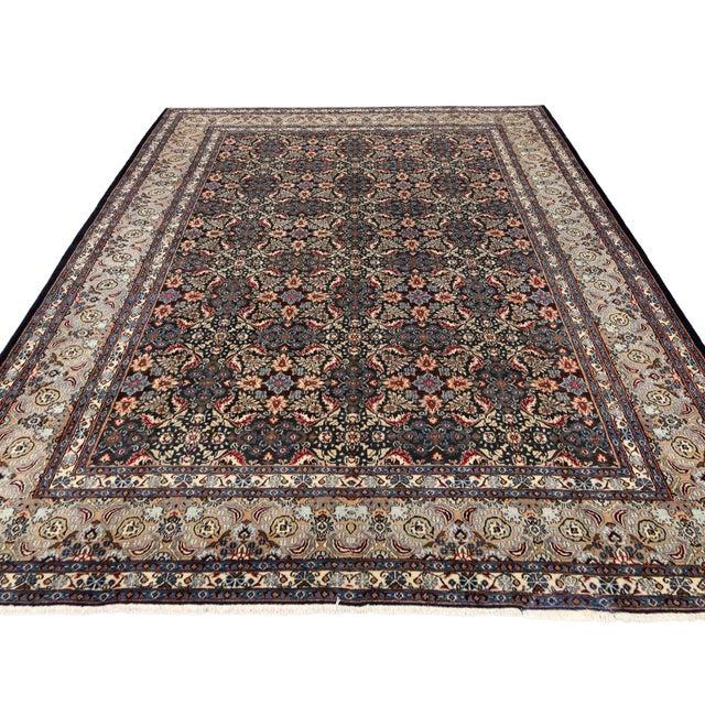 "Vintage Persian Mashad Wool Rug - 8'5"" X 11'2"" For Sale - Image 4 of 7"