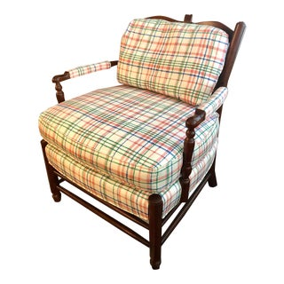 Late 20th Century Hickory Chair Furniture Co Accent Chair For Sale