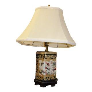 Petite Octagonal Porcelain Ginger Jar Lamp
