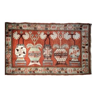 Vintage Khotan Vase Carpet - 5′ × 8′ For Sale