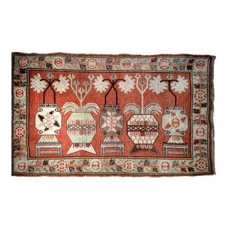 Vintage Khotan Vase Carpet - 5′ × 8′ For Sale