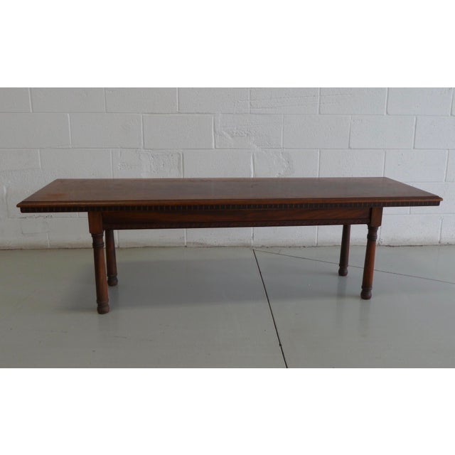 Antique Wood Table With Carved Floral Motif For Sale - Image 13 of 13