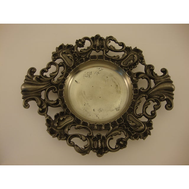 Vintage Baroque Italian Pewter Catchall - Image 2 of 5