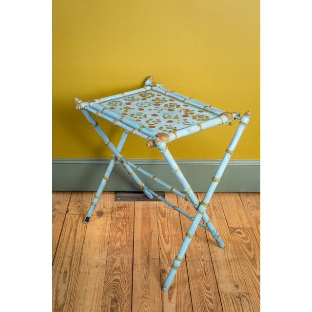 Antique Painted Tray Table For Sale - Image 13 of 13