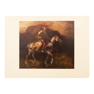 1959 the Polish Rider by Rembrandt, Hungarian Lithograph For Sale