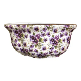 Chintz Purple Pansy Planter by Baum For Sale