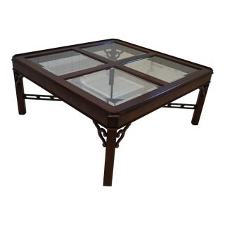 Vintage Chinoiserie Chippendale Coffee Table For Sale