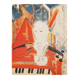 "Raoul Dufy, XL ""Homage to Mozart"" First Edition Lithograph, 20th C. For Sale"