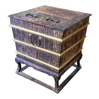 Mid 19th Century Qing Blackwood Bingjian Room Cooler For Sale