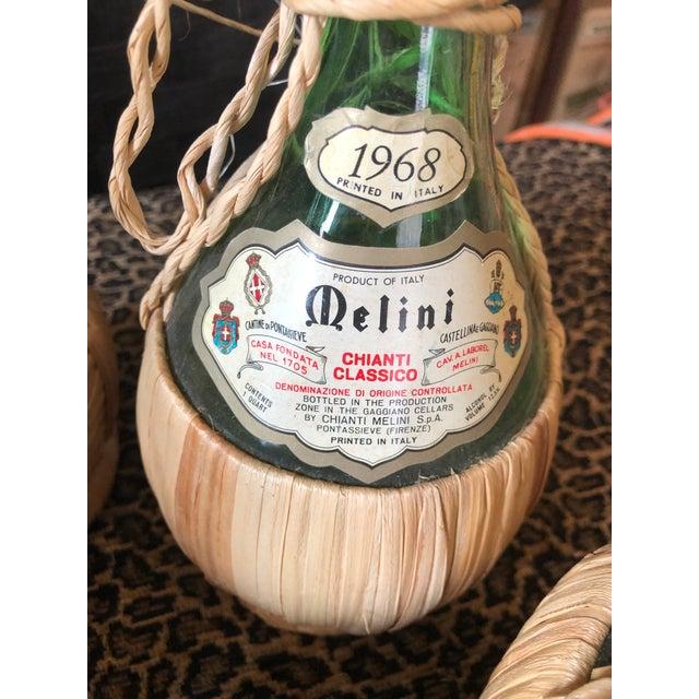 Vintage Italian Demijohn Wine Bottles - Set of 8 For Sale - Image 10 of 13