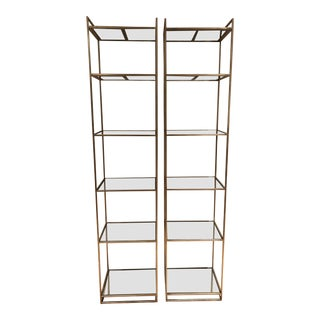 Contemporary Lillian August Bookshelves - a Pair For Sale