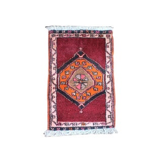 1930s Traditional Turkish Cappadocia Hand Knotted Red Wool Rug