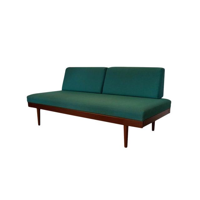 Norwegian Modern Teak Daybed Sofa Pull Out Tables Edvard Kindt Larsen for Gustav Bahus For Sale