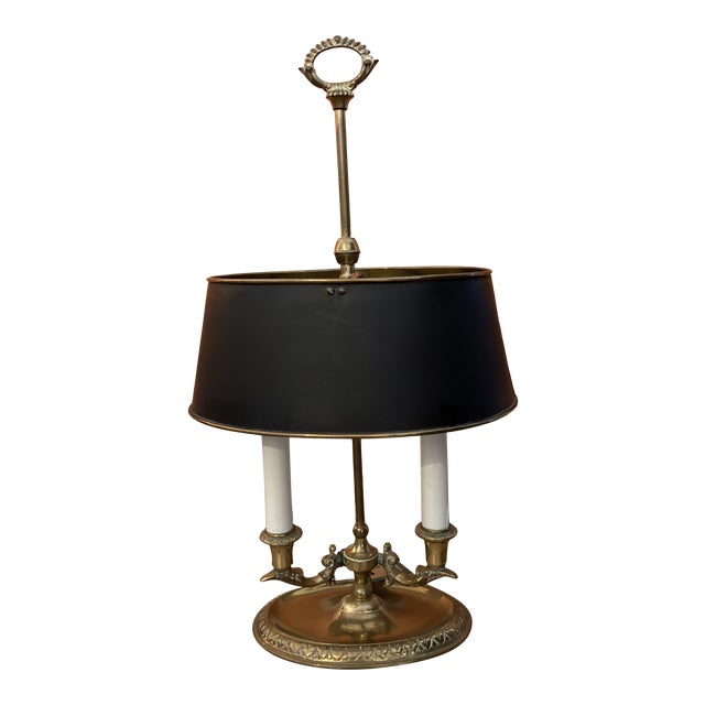 1960s Brass Bouillotte Lamp For Sale