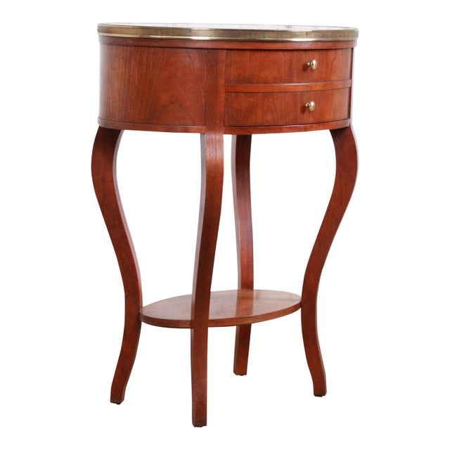 Baker Furniture French Regency Mahogany and Brass Side Table For Sale - Image 13 of 13