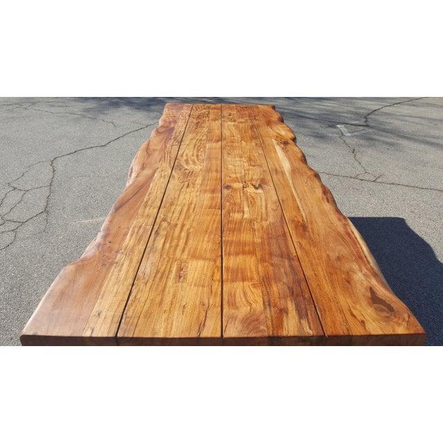Live Edge Acacia Wood Plank Table - Image 7 of 7