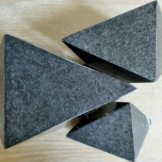 Geometric Octahedron Marble Sculptures - Set of 3 For Sale - Image 11 of 12