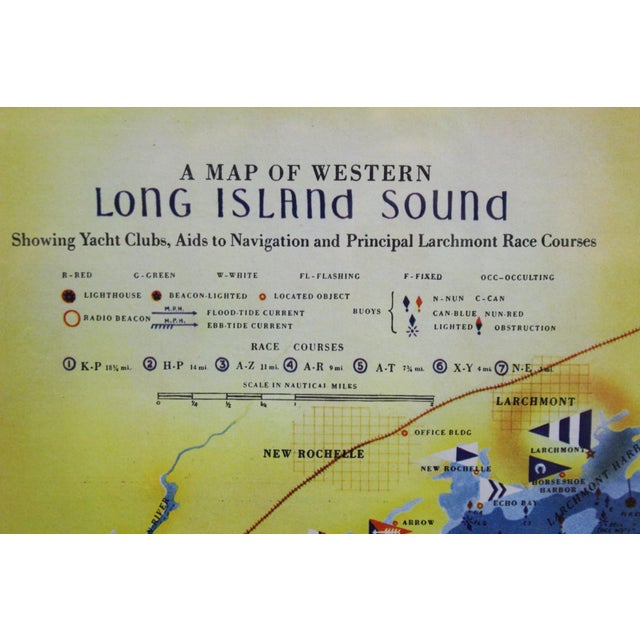 Nautical Map of Western Long Island Sound For Sale - Image 3 of 5