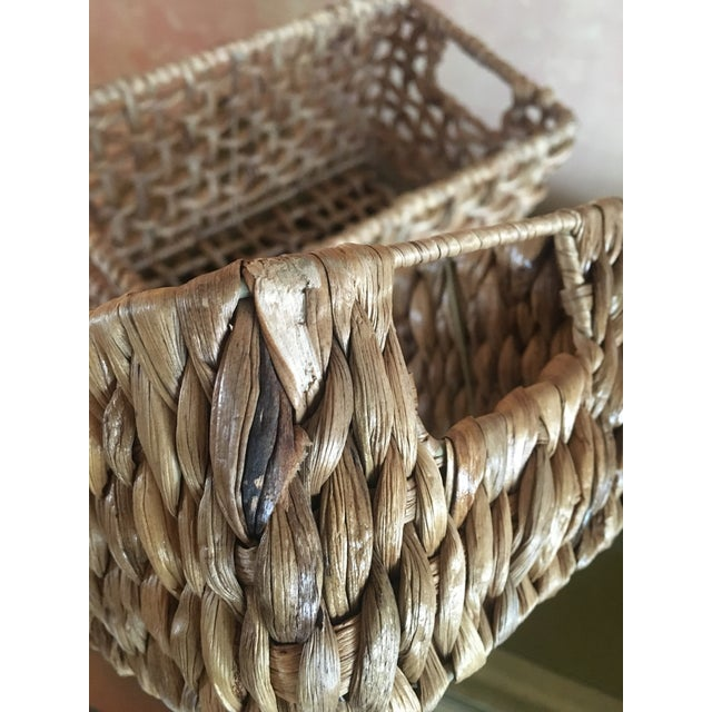 Woven Sea Grass Baskets - Pair - Image 4 of 8