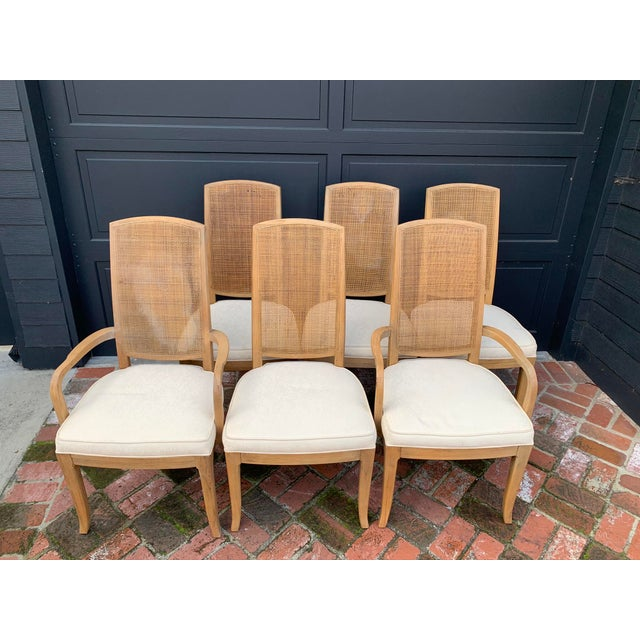 Mid-Century Tall Cane Back Dining Chairs - Set of 6 For Sale - Image 10 of 10