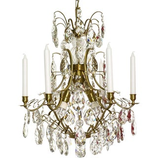 Baroque Six-Light Chandelier For Sale