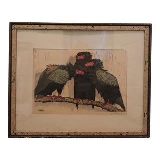 """""""3 Gauckler"""" Print by German Expressionist Martin Erich Philipp"""