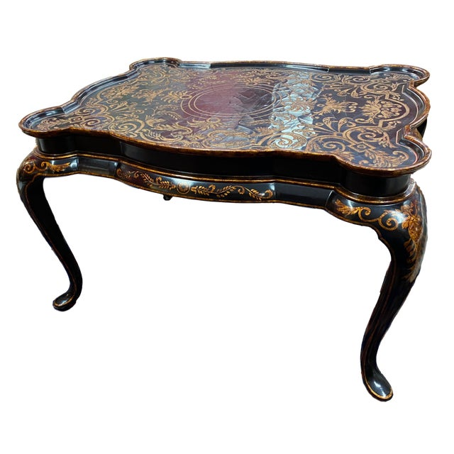 Hilda Flack Black Lacquer Coffee Table For Sale - Image 11 of 11