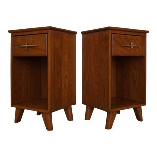 1950's Mid-Century Modern Nightstands by La Period - a Pair For Sale