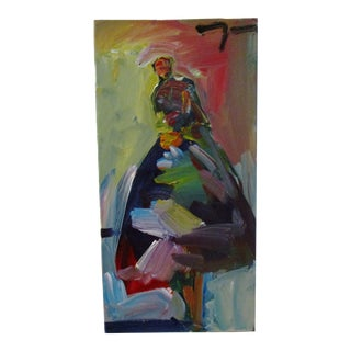 """Long Dress"" Oil on Canvas Painting For Sale"