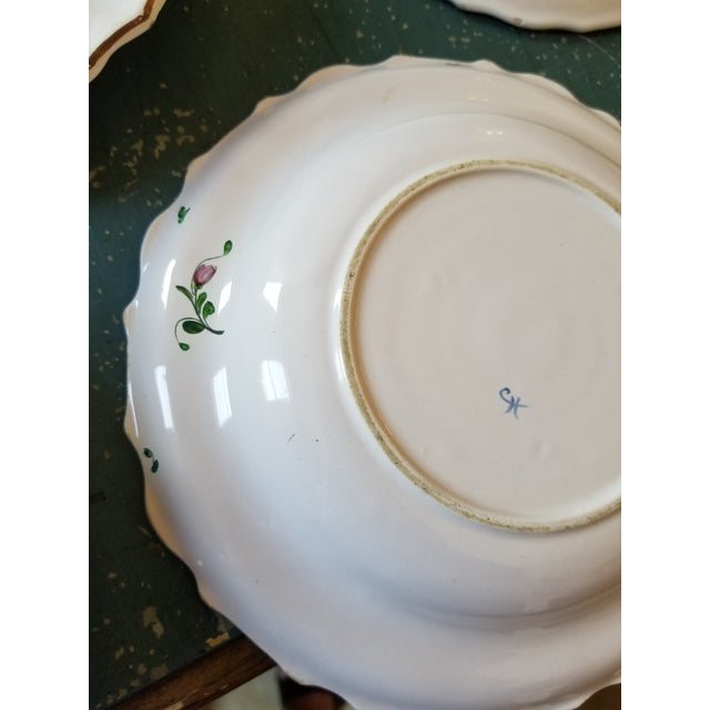 Ceramic French Faience Bowls Set of Eight For Sale - Image 7 of 8
