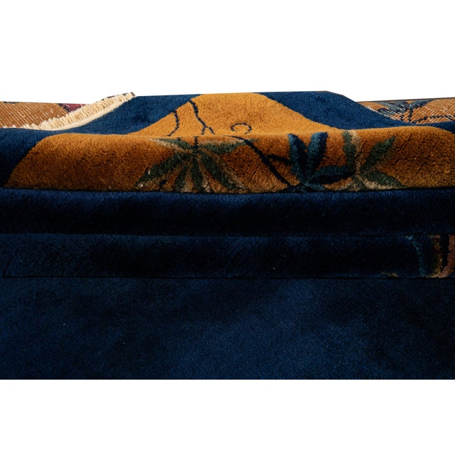 Early 20th Century Early 20th Century Antique Art Deco Chinese Wool Rug For Sale - Image 5 of 13