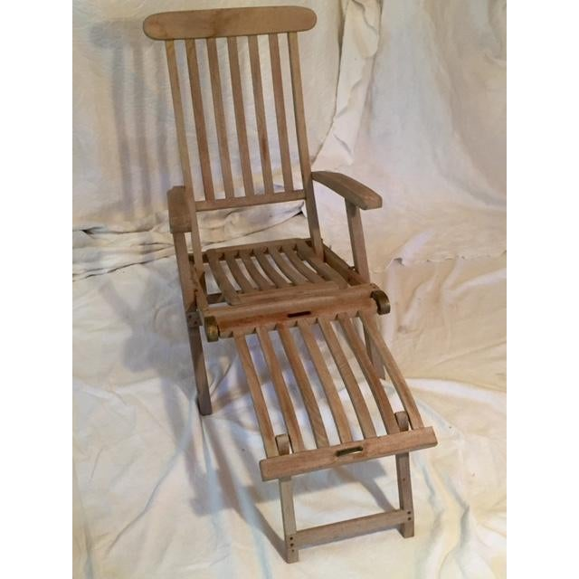 Vintage RMS Queen Elizabeth Cruise Line Deck Chair - Image 3 of 11 - Vintage RMS Queen Elizabeth Cruise Line Deck Chair Chairish