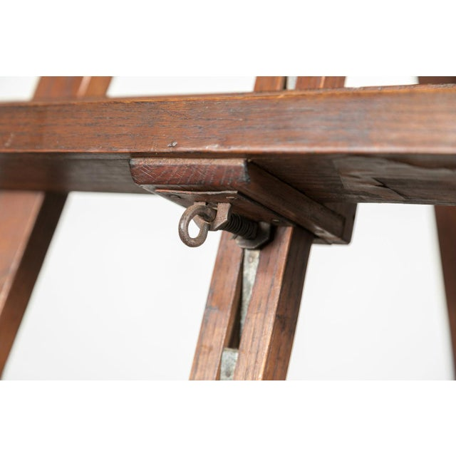 Oak 20th Century French Adjustable Oak Painters Easel For Sale - Image 7 of 10