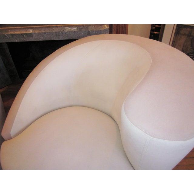Hollywood Regency 1980s Vintage Vladimir Kagan Nautilus Swivel Chairs- A Pair For Sale - Image 3 of 12