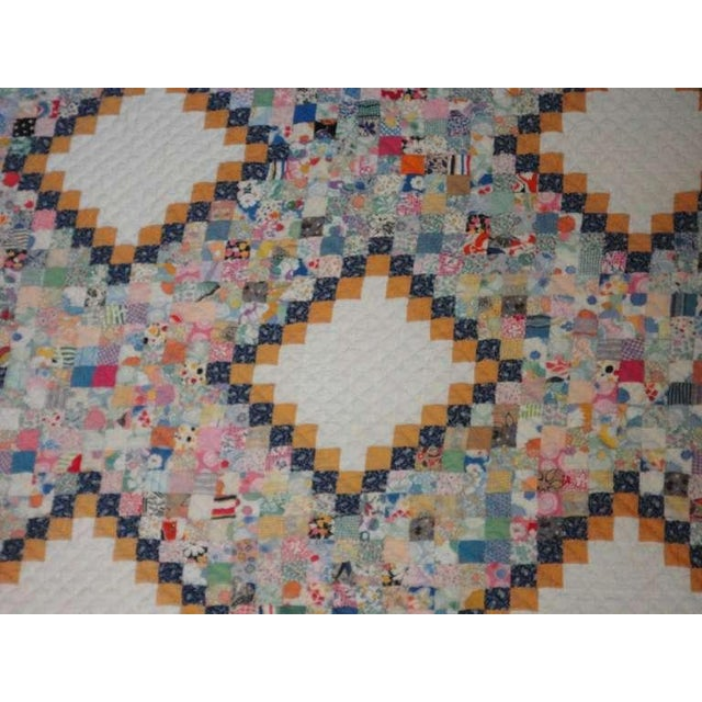 Fantastic Mini-Pieced Postage Stamp Quilt from Pennsylvania For Sale - Image 4 of 10