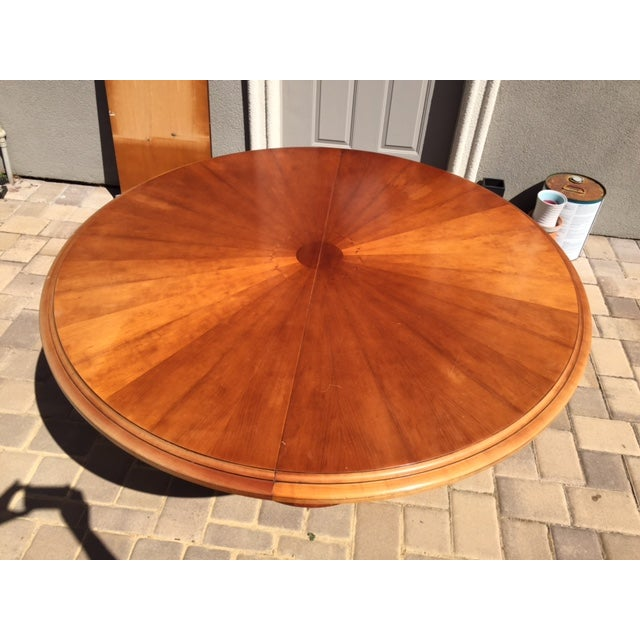 Art Deco Grange Cherry Pedestal Dining Table For Sale - Image 3 of 6