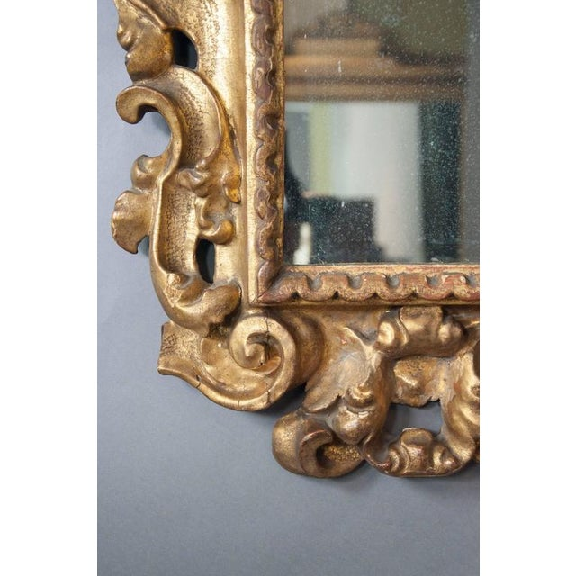 Italian Baroque Giltwood Mirror - Image 4 of 8