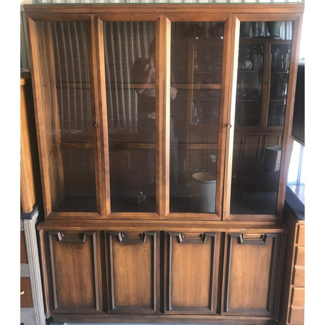 Wood Mid Century Modern Hutch / China Cabinet For Sale - Image 7 of 13