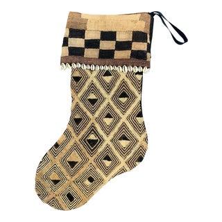 Kuba Cloth Christmas Stocking For Sale