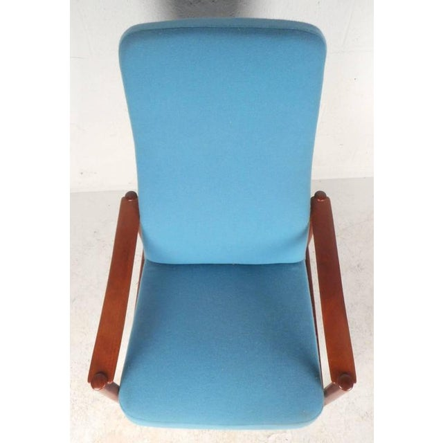 Mid-Century Modern Lounge Chair and Ottoman by Westnofa - Image 9 of 11