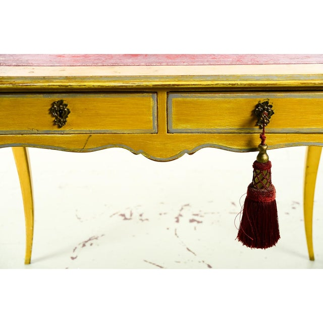 19th Century Venetian Beautiful Painted Petite Ladies Desk -Leather Top For Sale - Image 9 of 10