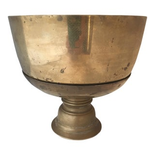 1960s Traditional Brass Centerpiece Bowl For Sale
