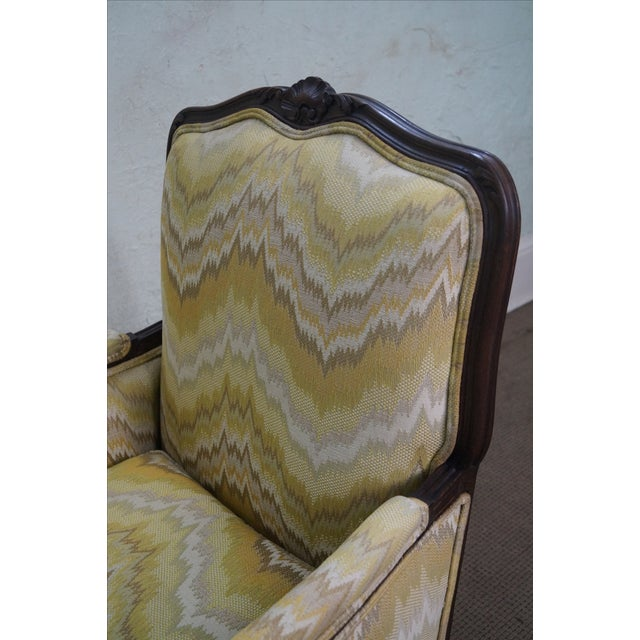 French Louis XV Style Walnut Frame Bergere - Image 6 of 10