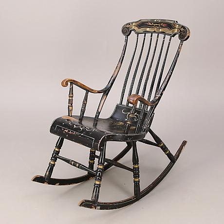 Late 19th Century Swedish Antique Rocking Chair For Sale - Image 5 of 5