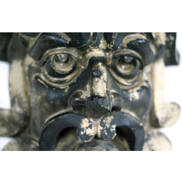Lipscombe & Co. Pre-Columbian Style Terra Cotta Mask For Sale - Image 4 of 4