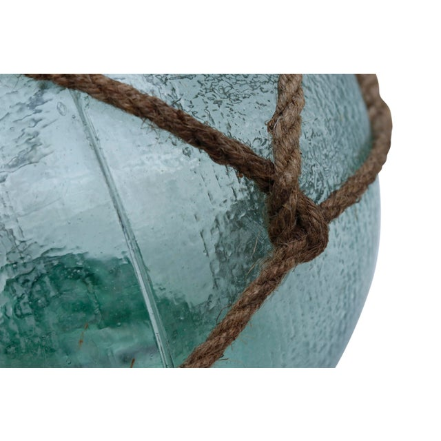 Blue Large Hand Blown Glass Fishing Floats, Set of 3 For Sale - Image 8 of 11