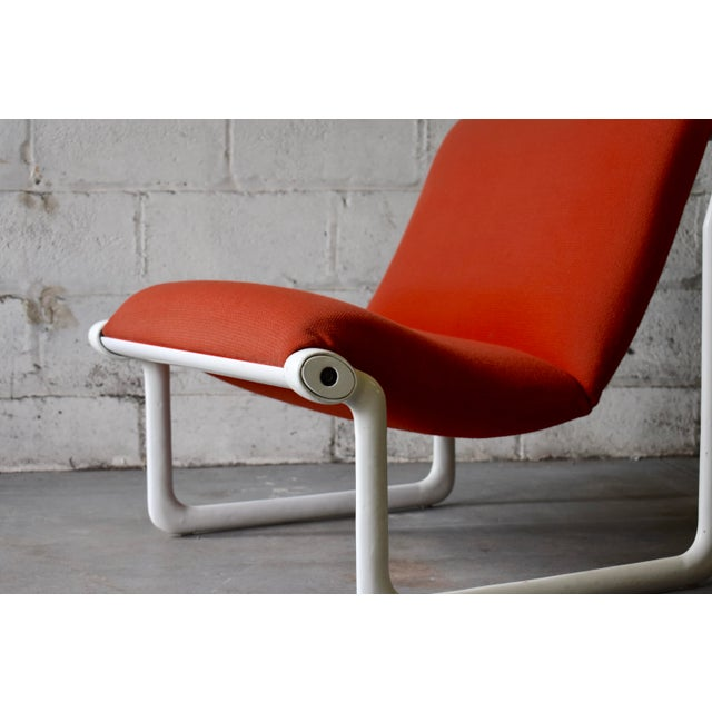 Red Hannah & Morrison for Knoll Mid Century Modern Sling Lounge Chair For Sale - Image 8 of 13