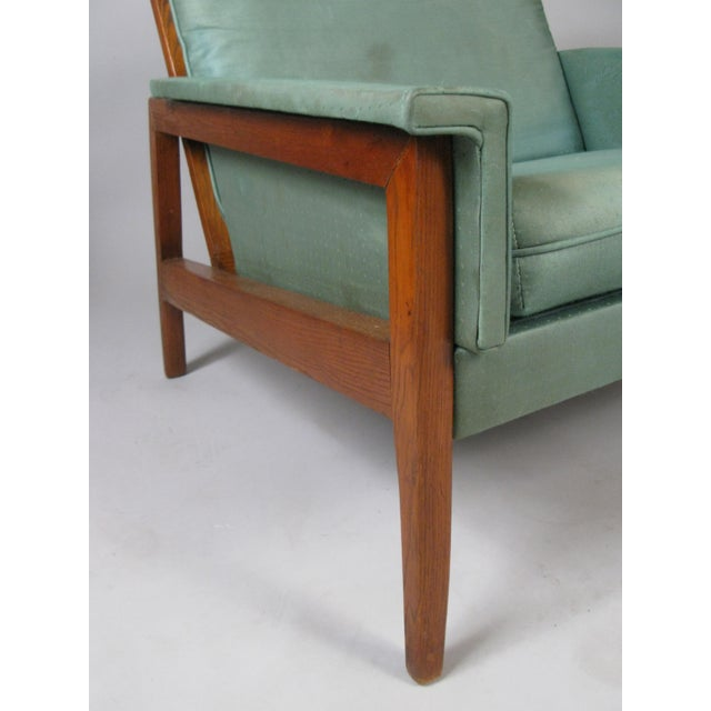 1950s Walnut Lounge Chairs - a Pair For Sale - Image 4 of 9