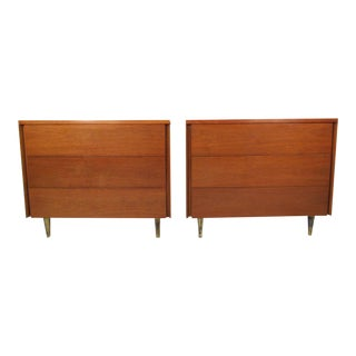 Pair of Mid-Century Dressers By John Stuart For Sale