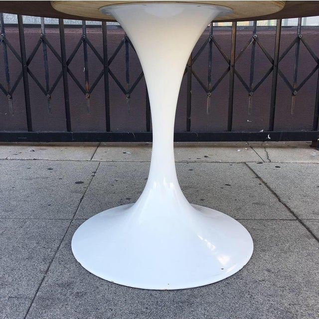 Mid Century Modern Custom Walnut Tulip Table For Sale - Image 4 of 13